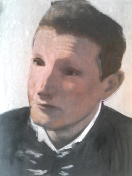 Portrait en 1 2015 29,7 x 21 cm Huile et impression sur papier