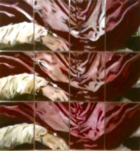 Détails Innocent (d'après Diego Velazquez), 2015 Huile et impression sur papier Dimensions variables, 12 Feuilles A4