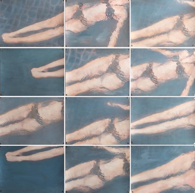 Crime Scene 3 2015 Huile et impression sur papier 87x91