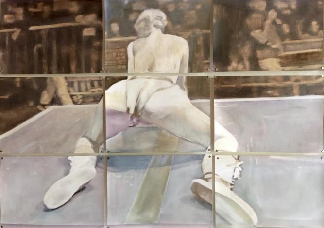 Twerk 2015 Huile et impression sur papier 65x91